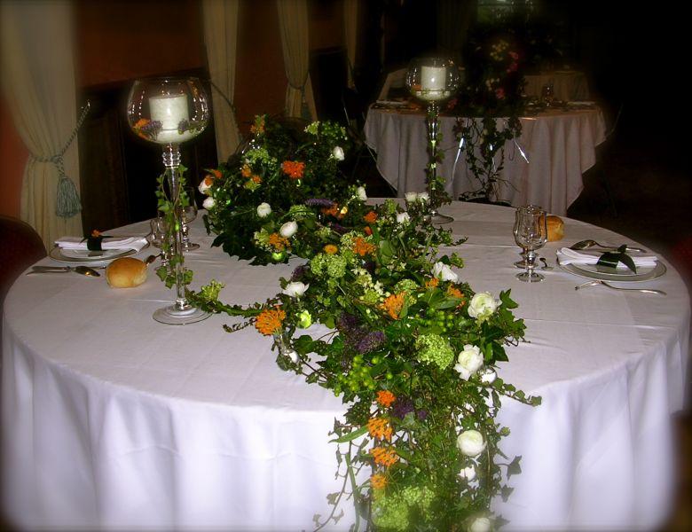 Maylis boniface d coration florale ch teau de brissac - Deco florale de table ...